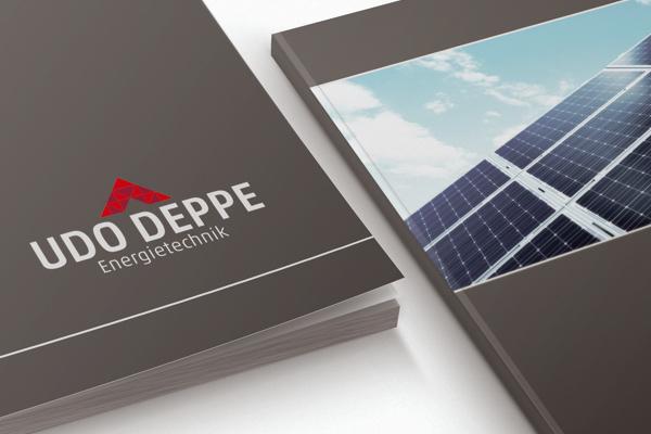 Imagebroschüre für die Firma Udo Deppe Energietechnik
