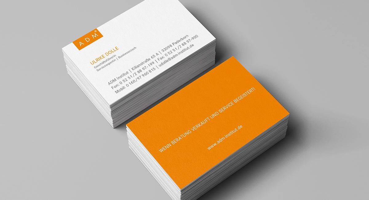 Visitenkarten – ADM Institut