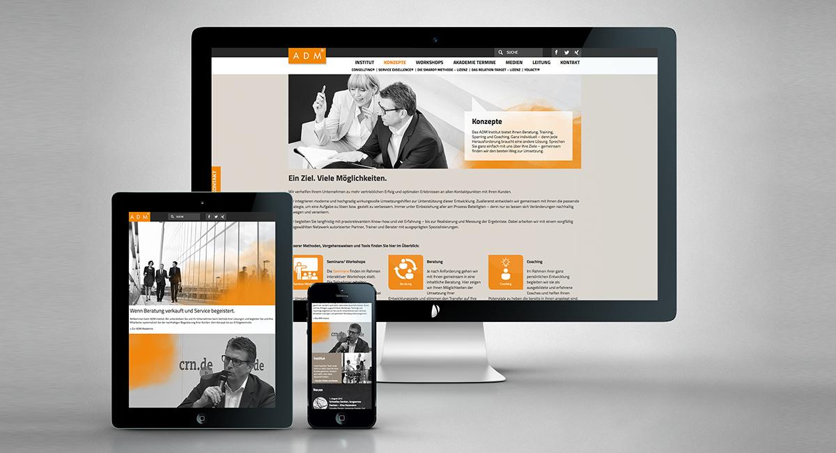 Responsives Webdesignkonzept – ADM Institut