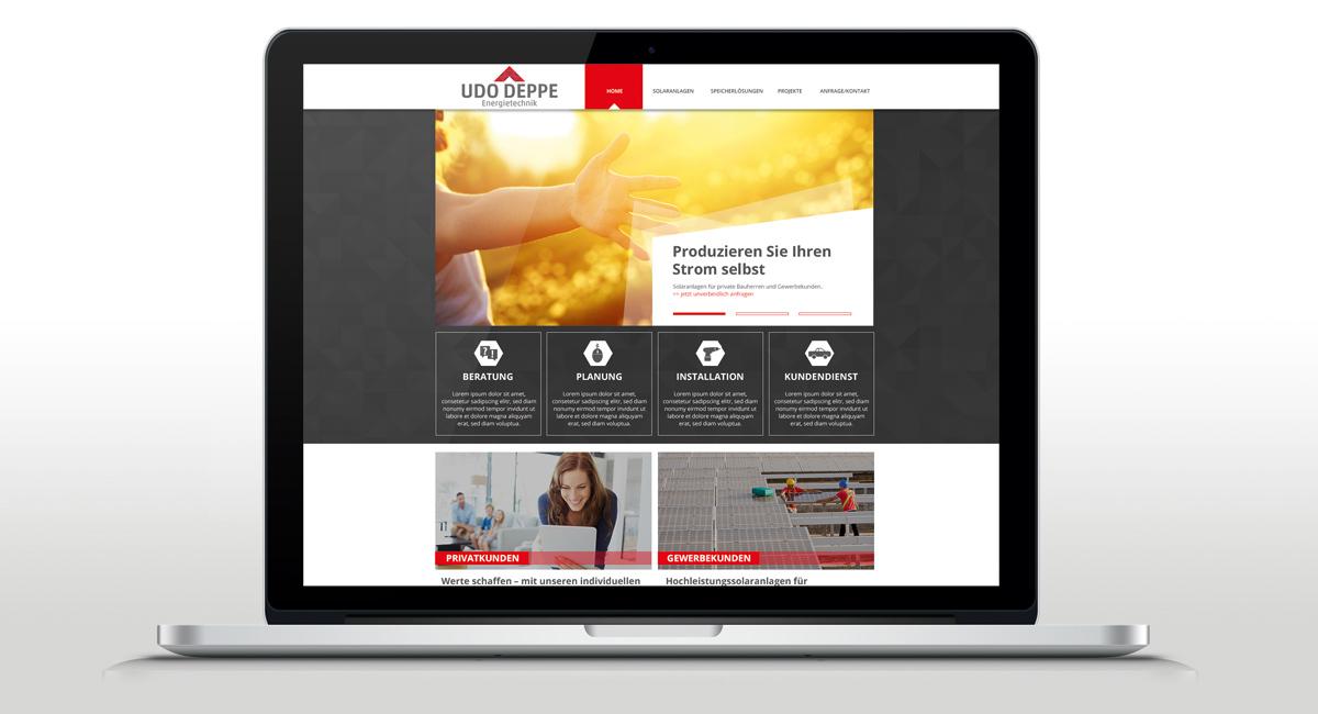 Webdesign & Programmierung für die Firma Udo Deppe Energietechnik