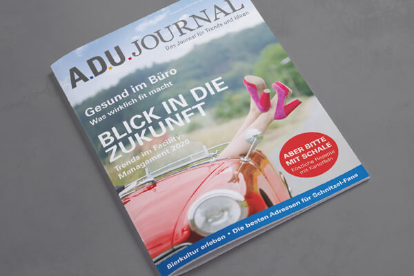 Editorialdesign – ADU Service Gruppe