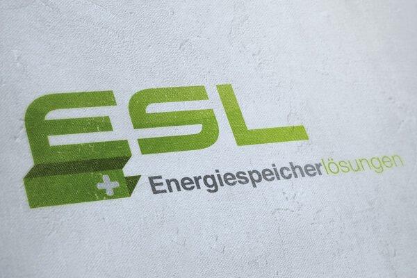 Logodesign ESL Energiespeicherlösungen