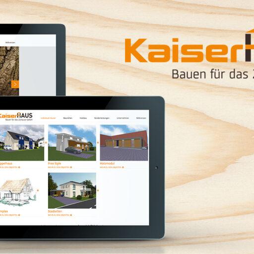 Webseiten Gestaltung & Umsetzung - Kaiser Haus