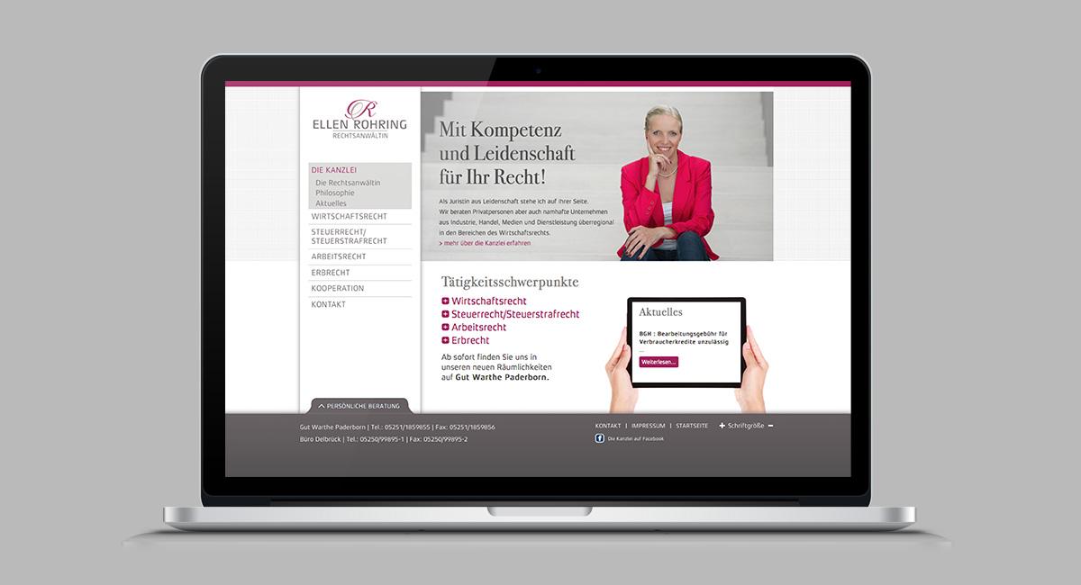 Internetseiten Design & Programmierung - Kanzlei Rohring