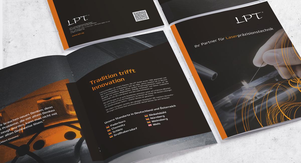 Imagebroschüre für die Firma LPT - Laserpräsizionstechnik
