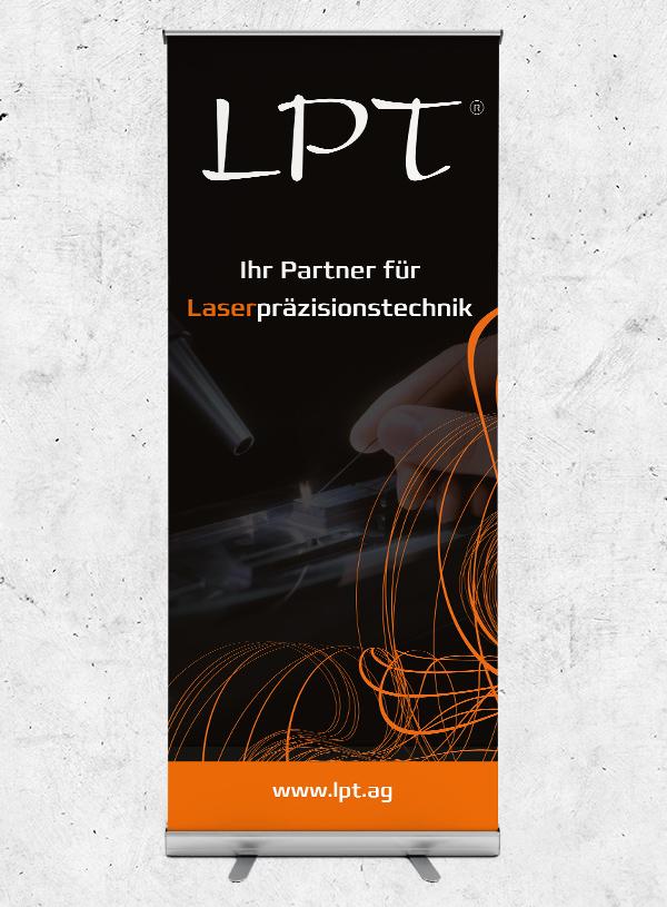 Rollup für die Firma LPT - Laserpräsizionstechnik