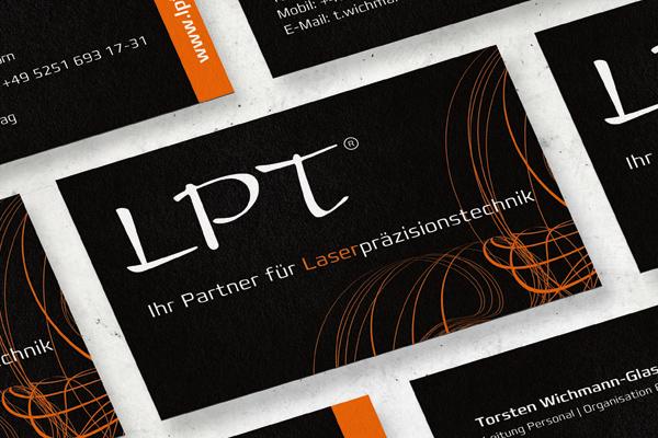 Visitenkarten für die Firma LPT - Laserpräsizionstechnik