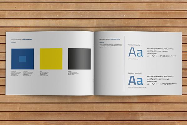 Konzept Farbe und Schrift - Lüning