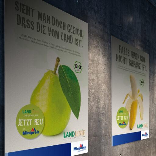 Minipreis Plakat Werbung