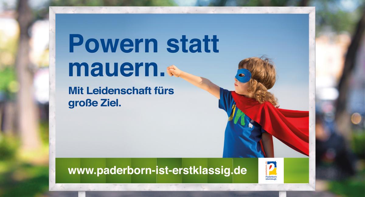 Plakat Power - Paderborn ist erstklassig