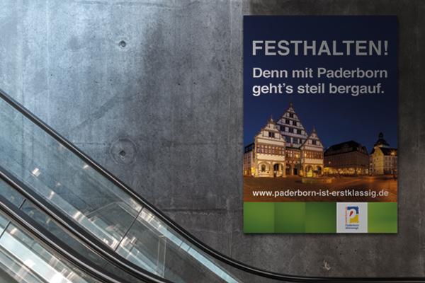 Plakat Rolltreppe - Paderborn ist erstklassig
