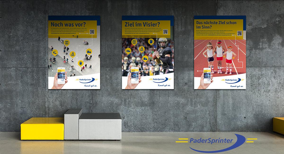Padersprinter Plakat Werbung