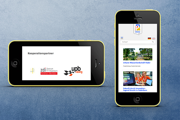 Website iPhone - Paderborn überzeugt