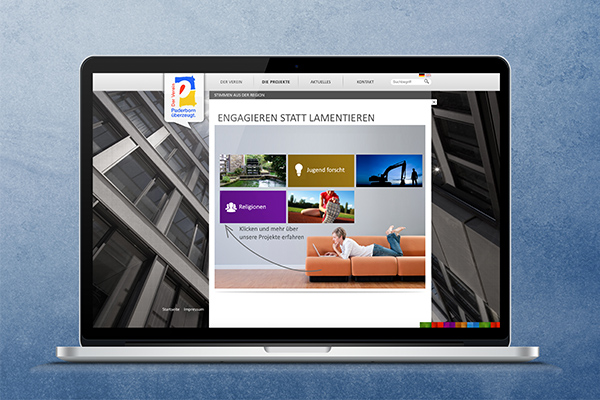 Website Laptop - Paderborn überzeugt