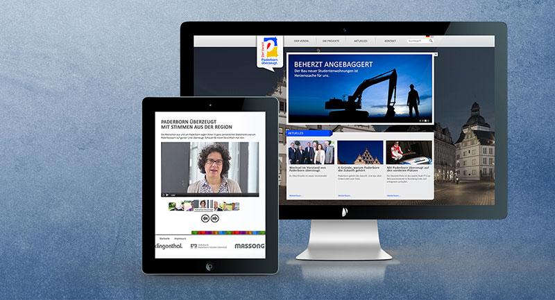 Website Mac iPad - Paderborn überzeugt