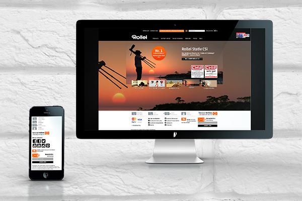 Website auf Mac und iPhone - Rollei