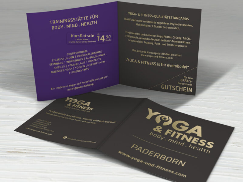 Yoga & Fitness - Flyer