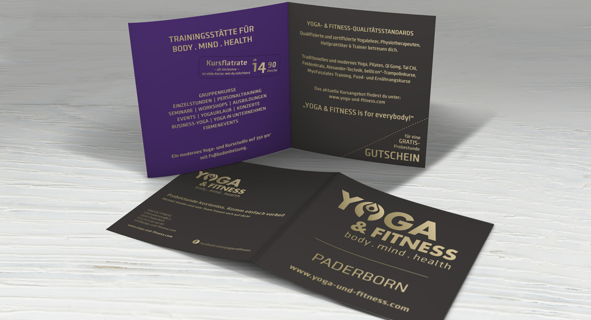 Flyerdesign – Yoga & Fitness