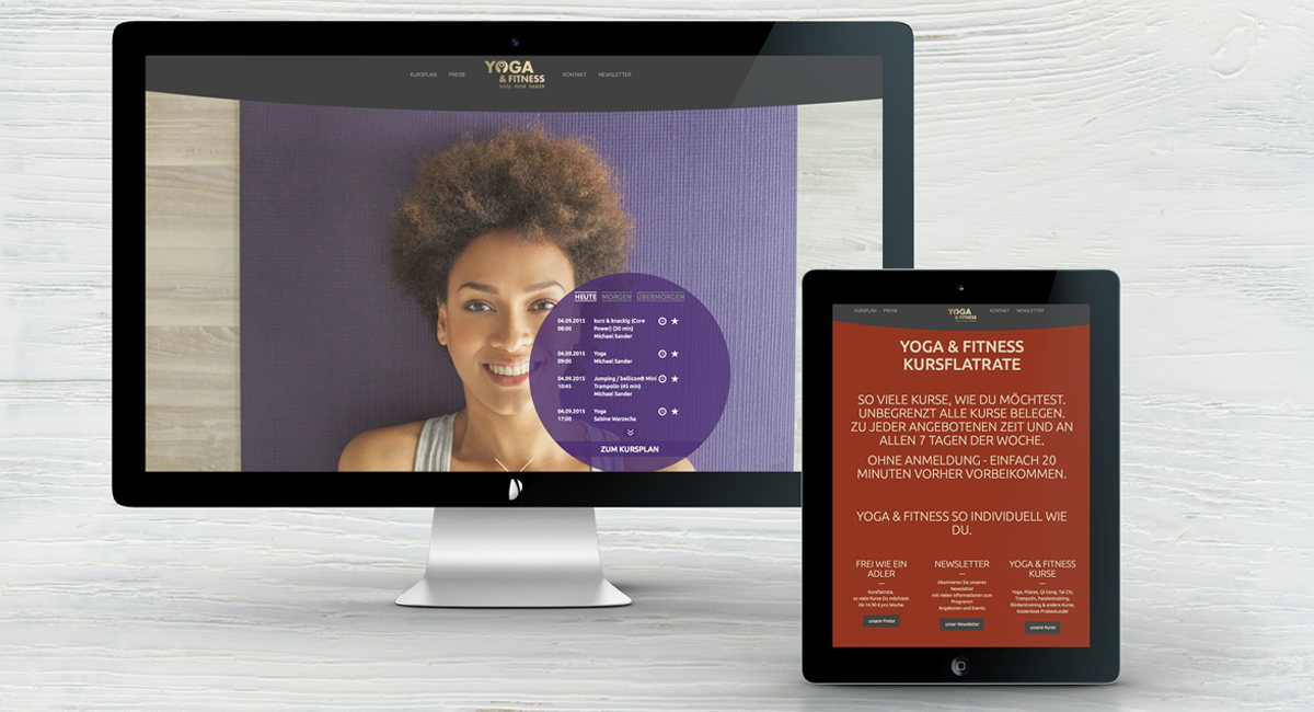 Webdesign – Yoga & Fitness