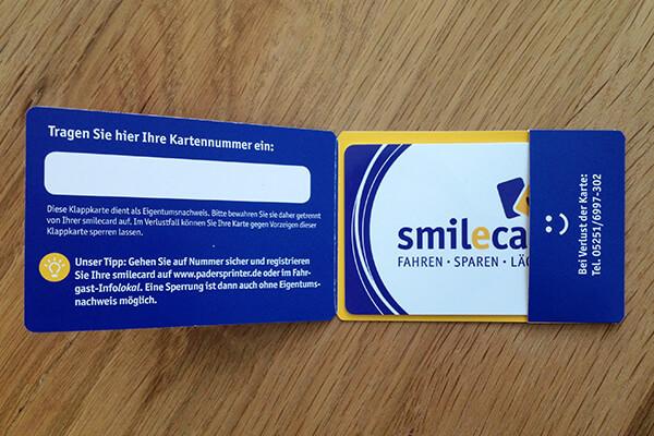 Verpackung - smilecard Padersprinter