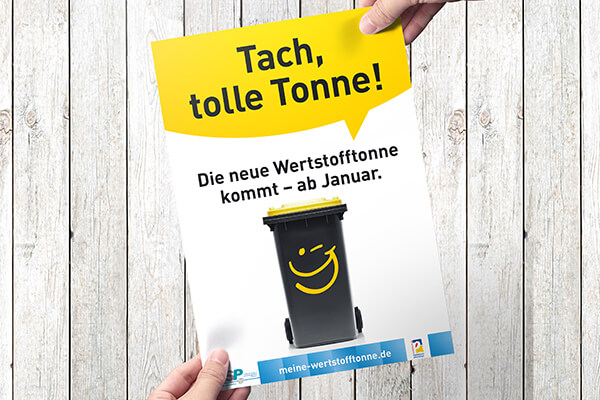 Plakat - Wertstofftonne in Paderborn