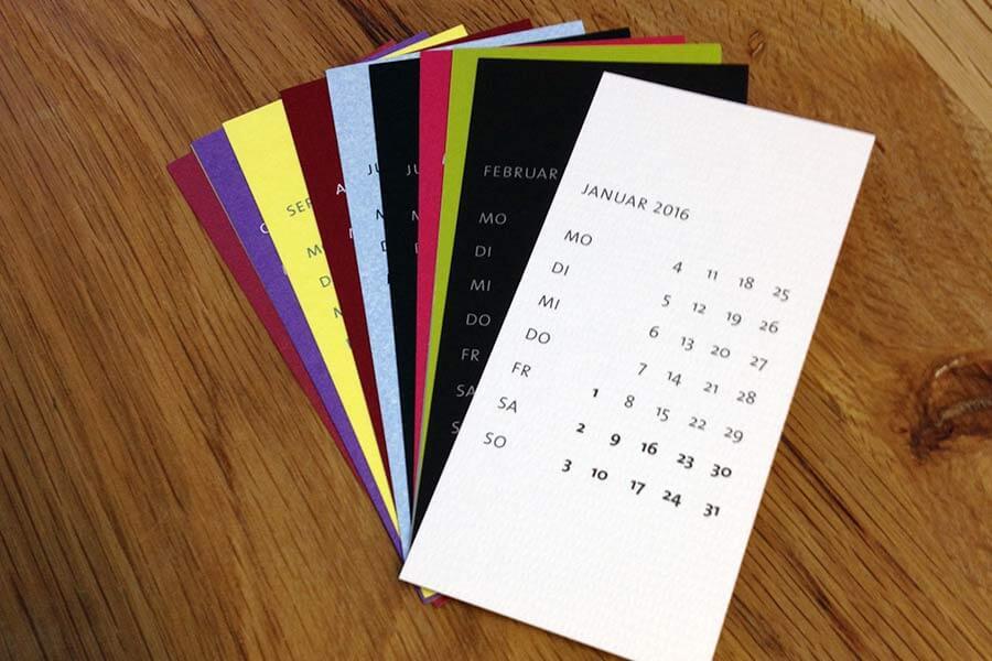 SILBERWEISS-Papier Union Kalender 2016