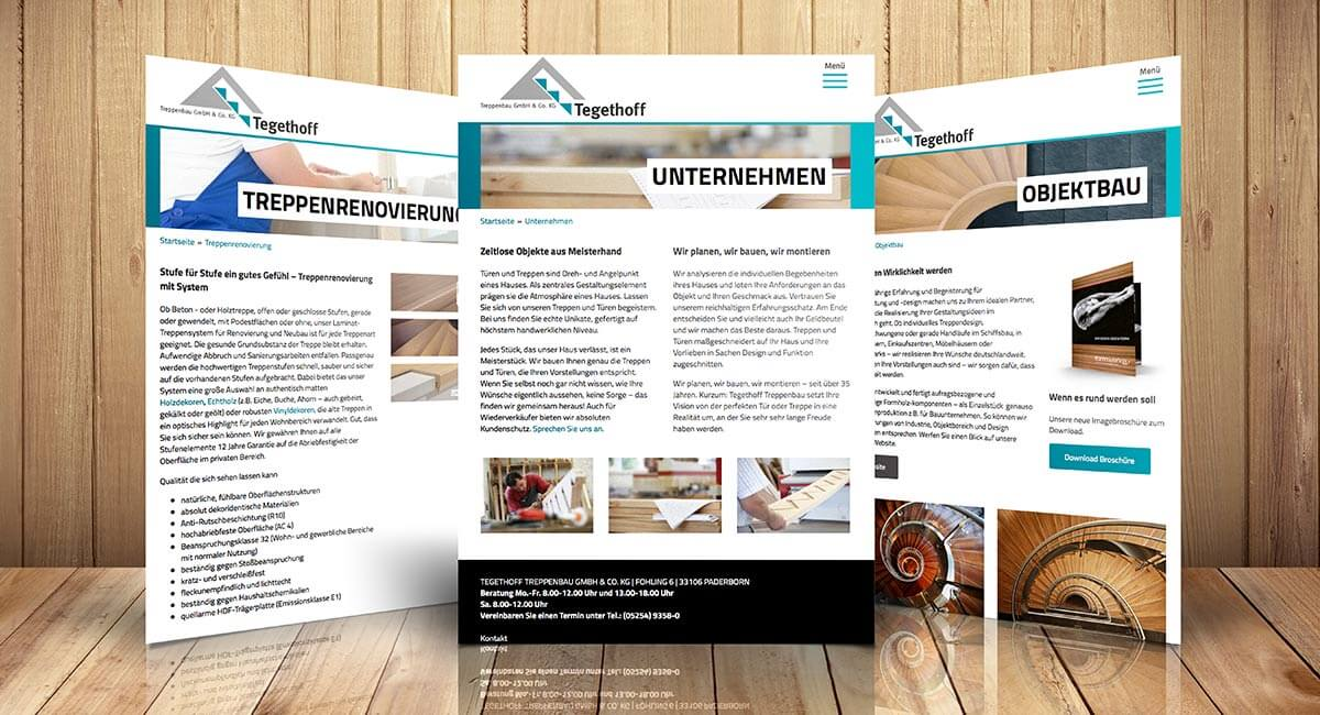 SILBERWEISS – Tegethoff Treppenbau Website