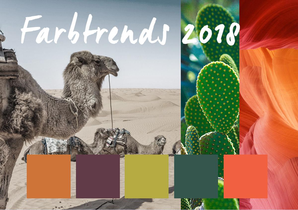 In die Wüste geschickt – die neuen Farben für 2018 - Werbeagentur ...