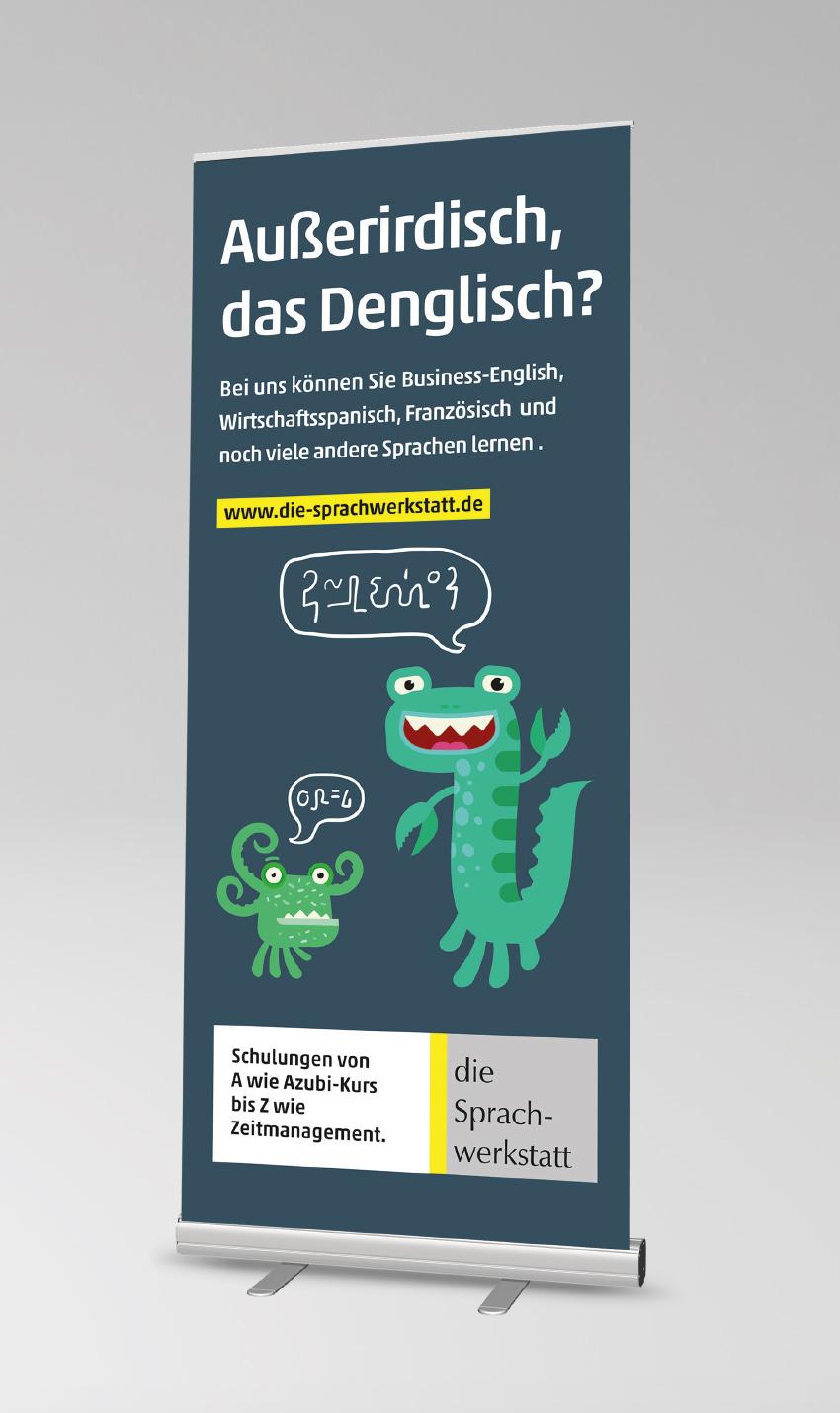 SILBERWEISS – die Sprachwerkstatt Anzeigenkonzept
