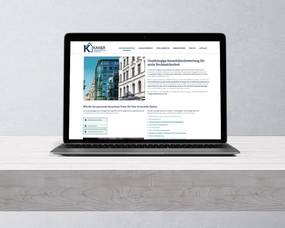 SILBERWEISS – Kaiser Immobilienbewertung  Website Design und Programmierung