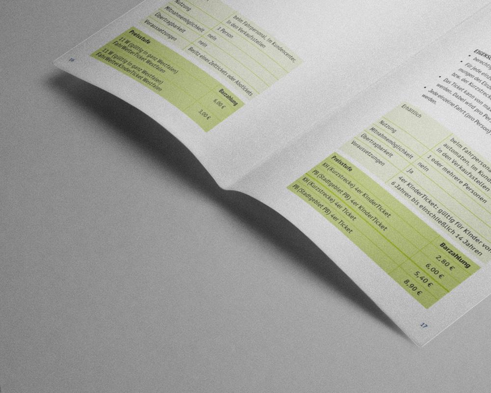 SILBERWEISS –  PaderSprinter Tarifbroschüre