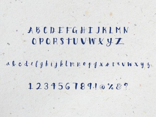 Handgeschriebene Schriftarten
