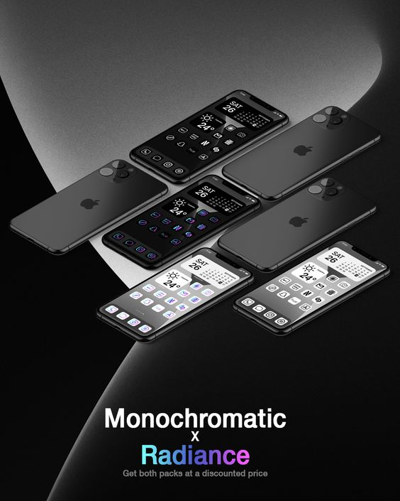 MonochromaticxRadiance Icon Set