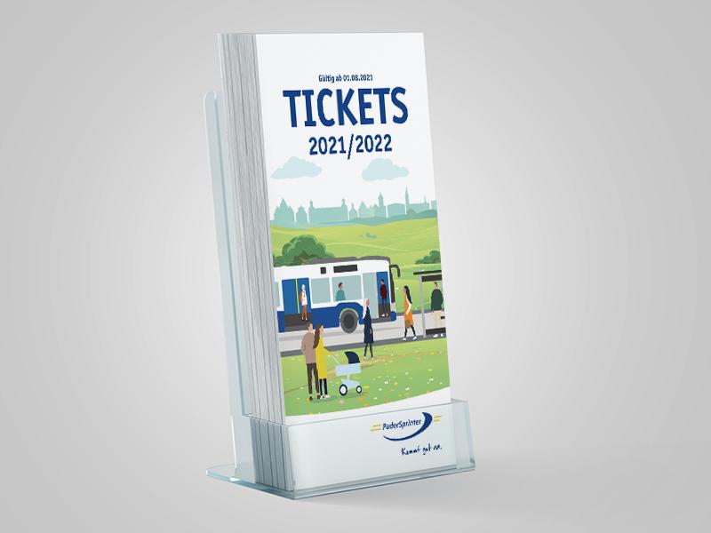 PaderSprinter Ticketbroschüre für den öffentlichen Nahverkehr